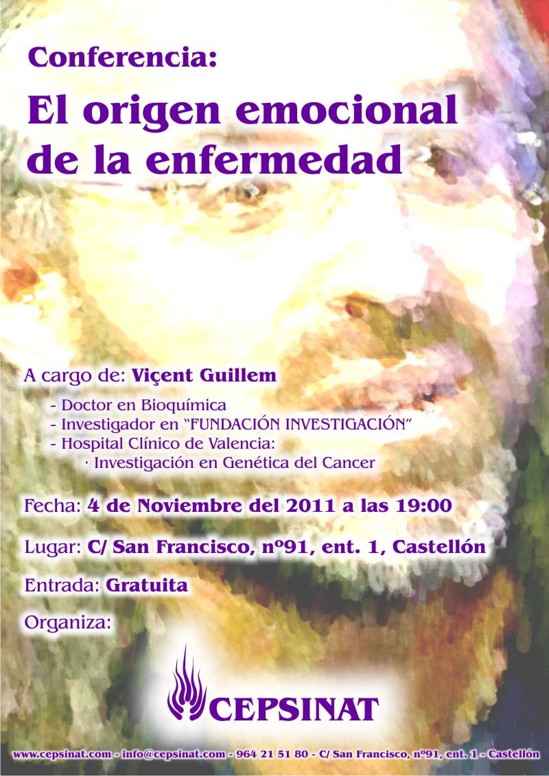 Conferencia Vicent Guillem: El origen emocional de la enfermedad